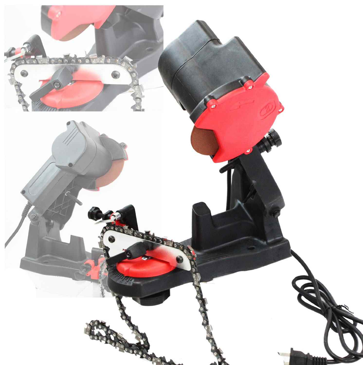 Electric Grinder Chain Saw Bench Sharpener Review
