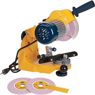 Roughneck Bench- or Wall-Mounted Chain Saw Sharpener