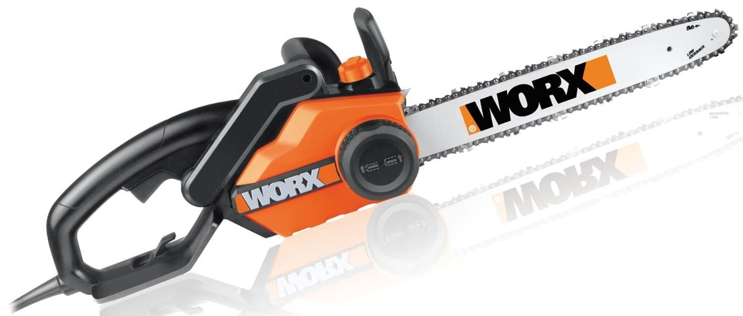 Best electric chainsaw in 2017 complete buyers guide and reviews 1 worx wg3031 16inch saw 35 hp 145 amp greentooth Gallery