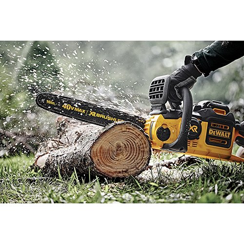 Cordless Battery Operated Dewalt 16-Inch Lithium Ion XR Chainsaw