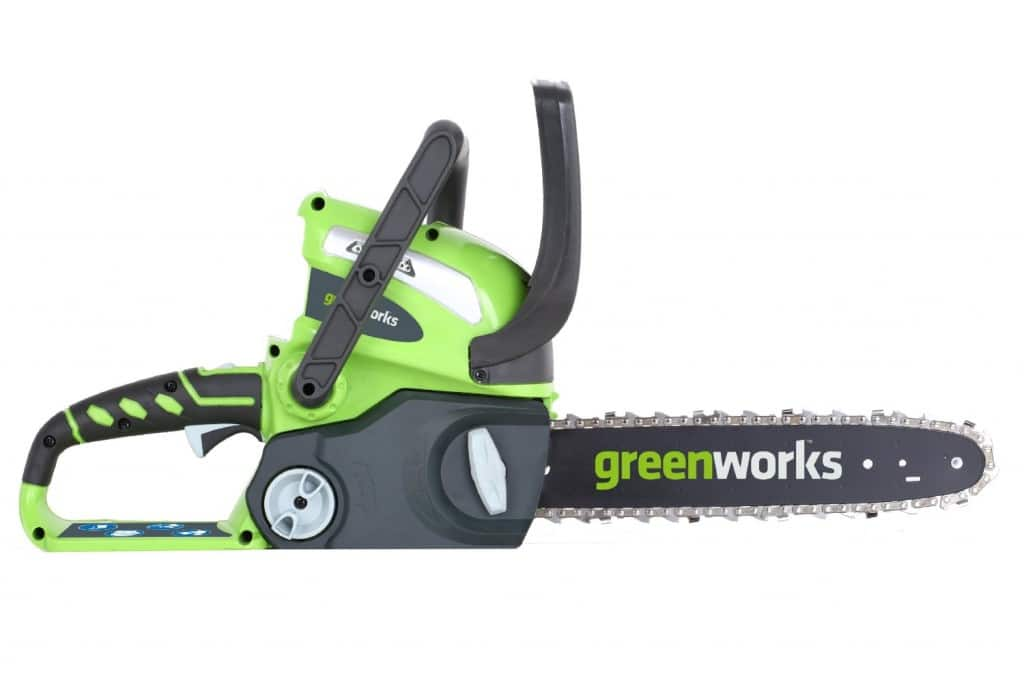 GreenWorks 20292 GMax 12-Inch Cordless Battery Operated 40-V Chainsaw