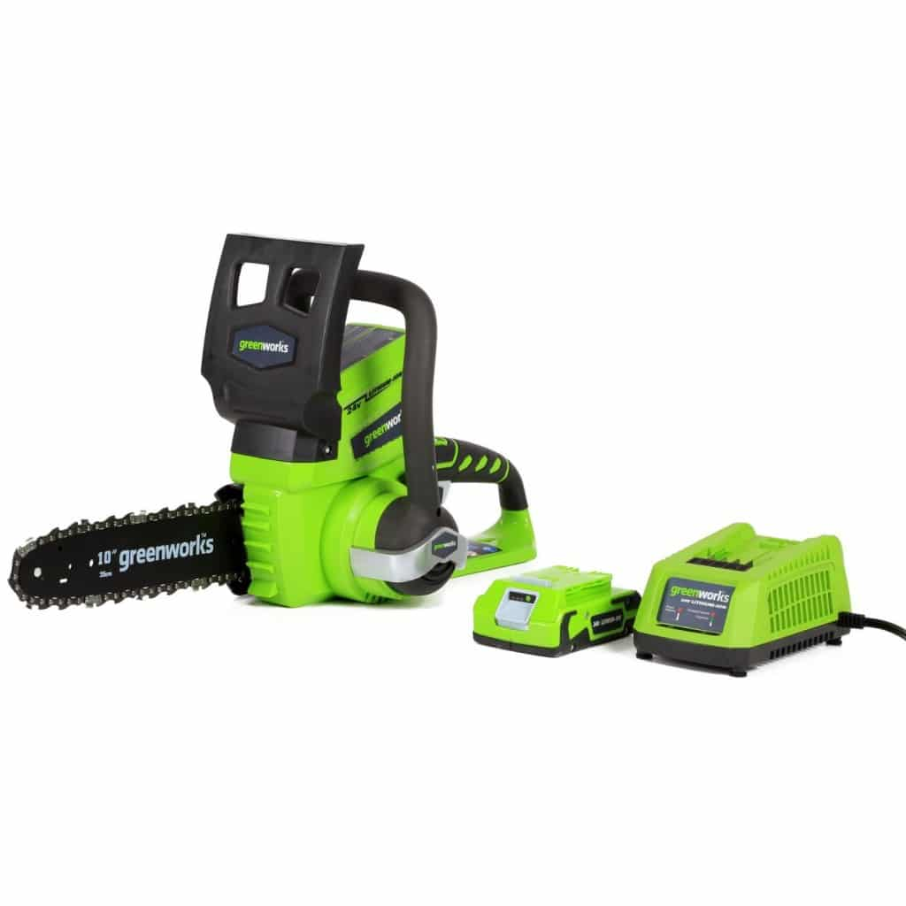 GreenWorks 20362 G-24 Battery Operated 10-Inch Chainsaw