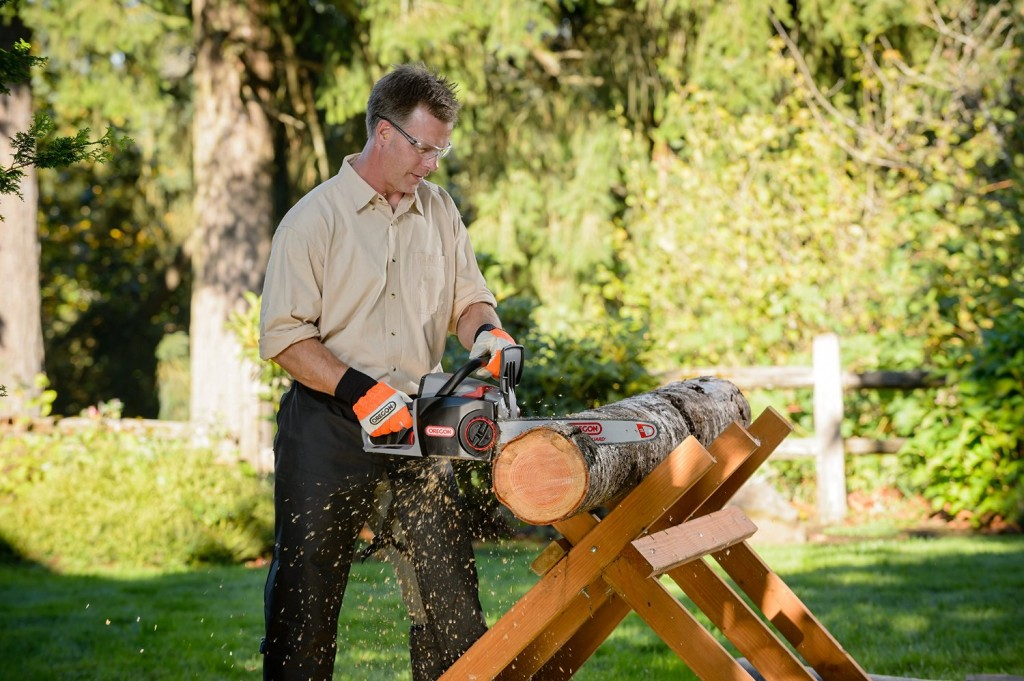 Oregon 40-Volt Max Cordless CS300-A6 Battery Operated Chainsaw