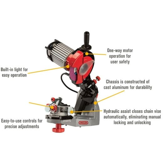 hydraulic assist saw chain grinder